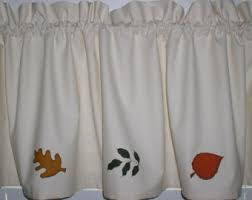 Curtains For A Cabin Autumn Valance Etsy