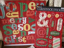 retro christmas crafting kit scrapbook paper crafts kit