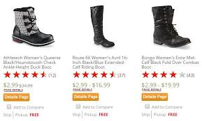 kmart womens boots kmart s boots only 2 99 plus free in store up