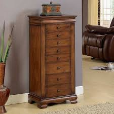 brown jewelry armoire nathan direct j1150arm l br marquis 8 drawer locking jewelry