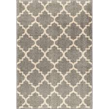 orian rugs ginter gray 5 ft 3 in x 7 ft 6 in geometric trellis