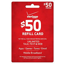 prepaid card for verizon 50 prepaid refill card mail delivery cell