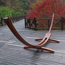 deluxe lazydaze hammocks 14 foot russian pine hardwood arc frame