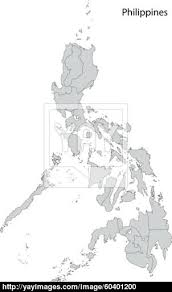 grey philippines map vector yayimages com