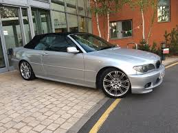 2003 bmw e46 330ci m sport facelift convertible in silver with