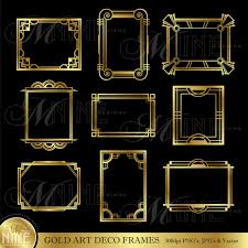 Art Deco Design Elements Art Deco Vintage Frames And Design Elements In Vector Stock