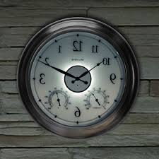 the 24 outdoor lighted atomic clock 24 inch outdoor clock outdoor designs