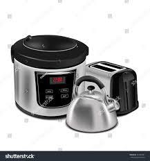 Toaster Kettle Set Home Appliances Set Kitchen Equipment On Stock Vector 523744381