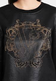 versace women sweatshirts jeans sweatshirt black versace eyewear