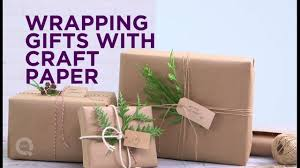 holiday quick take gift wrapping with craft paper youtube