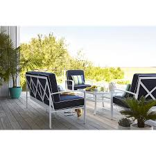 Allen And Roth Outdoor Furniture by Shop Allen Roth Ocean Park 36 In X 36 In Glass Top Aluminum