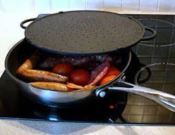 anti eclaboussure cuisine cleanzone couvercle anti projection plaque de cuisson noir