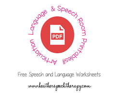 speech therapy worksheets