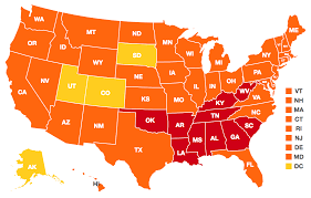 Show Me A Picture Of The United States Map by Obesity Rates U0026 Trends The State Of Obesity