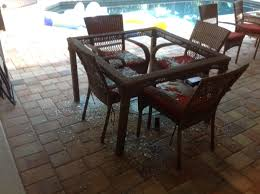 Glass Table Patio Set Home Depot Tile Patio Table Home Outdoor Decoration