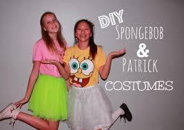 Spongebob Halloween Costumes Girls Diy Spongebob U0026 Patrick Costume