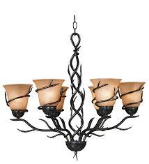 Rustic Chandeliers For Cabin Kenroy Home 90900brz Twigs 6 Light Chandelier Blackened Bronze