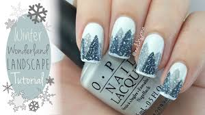 easy winter wonderland nails tutorial youtube