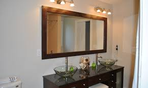Decorate Bathroom Mirror - mirror diy bathroom mirror ideas beautiful wooden framed dining