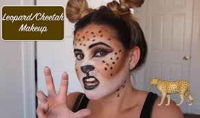 leopard halloween costume spirit leopard cheetah makeup halloween tutorial youtube