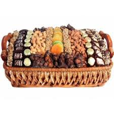 fruit and nut baskets chocolate dried fruit nut basket large shiva sympathy and