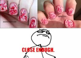 Nails Meme - trying to paint my nails for halloween meme guy