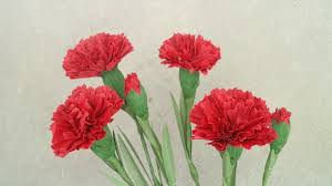 watercolor paper flower tutorial how to make red carnation paper flower from crepe paper craft
