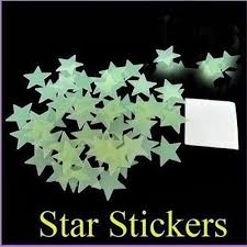amazon com 100pcs pack luminous stars noctilucent decorative