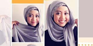 tutorial memakai jilbab paris yang simple cara memakai jilbab paris simple hanya 1 menit cara memakai jilbab