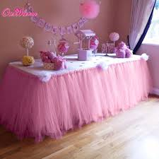 Pink Table L Many Tulle Tutu Table Skirt Tulle Tableware For Wedding Decoration