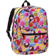 disney princess emoji print 16 backpack walmart
