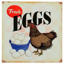 chicken home decor fresh eggs chicken farm metal sign country kitchen decor