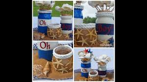 Boy Baby Shower Centerpieces by Mason Jar Baby Shower Centerpiece Diy How To Create A Sail