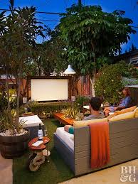 Outdoor Entertainment Center - a backyard getaway that lives outside the box