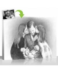 pencil sketch effect for your photos on canvas and pet portraits
