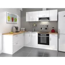 meuble haut cuisine laqué cosy cuisine complète 2m80 laqué blanc achat vente cuisine