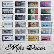 deco plaque metal online buy wholesale vintage tin signs from china vintage tin