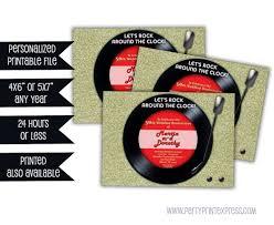 printable retro golden wedding anniversary invitations vinyl