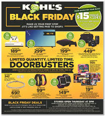 kohl s black friday 2017 ad deals sales coupons blackfriday