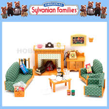 NEW SYLVANIAN FAMILIES LIVING ROOM FURNITURE SET W LIGHT UP - Sylvanian families living room set