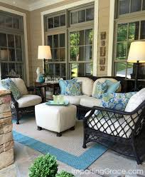 Outdoor Fabric For Patio Furniture Imparting Grace Front Porch Update And Tips For Choosing Outdoor