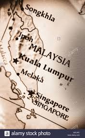 Singapore Map Asia by Close Up Map Of The Countries Malaysia And Singapore Located In