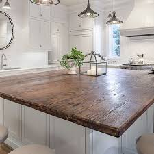 Wood Tops For Kitchen Islands Best 25 Reclaimed Wood Countertop Ideas On Pinterest Wood