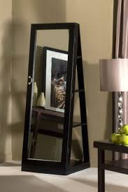 Free Standing Jewelry Armoire With Mirror Black Cheval Mirror Jewelry Armoire