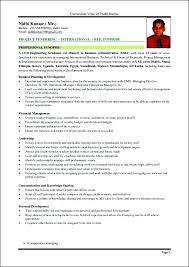 cv for project manager sample finance management sample resume finance manager resume cv