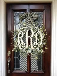 Door Monogram Decoration Monogram Front Door Decoration Monogram Door Hanger Twine Or Sisal