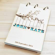personalized wedding album personalized wedding guest book rustic wedding guestbook album