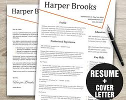 Resume Cover Letter Template Download Creative Resume Template Instant Download Resume Cover