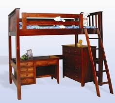 Bunk Bed With Stairs And Desk by Amish Made Youth Loft Storage Bunk Beds