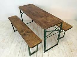 german beer garden table and bench vintage industrial german beer table bench set garden customised